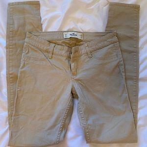 Khaki low rise skinny pants - Hollister - 3r